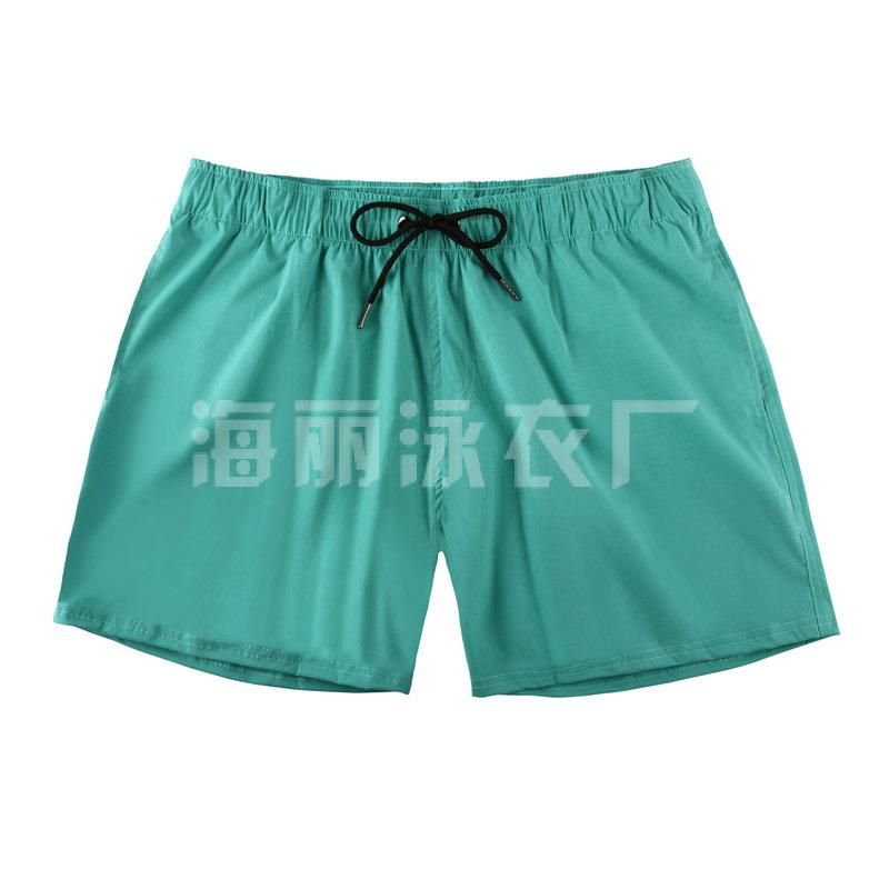 海丽moplay厂绿色男士短款沙滩裤