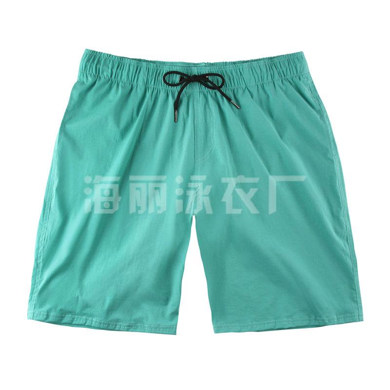 海丽moplay厂绿色男士中款沙滩裤